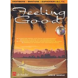 Searle, Leslie: Feeling good (+CD) : f├╝r Posaune/Bariton/Euphonium und Klavier (Bass- u. Violinschl├╝ssel)