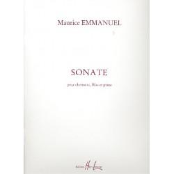 Emmanuel, Maurice: Sonate pour clarinette, flute et piano parties