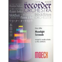 Miller, Glenn: Moonlight Serenade : f├╝r Blockfl├Âtenorchester (SAAATTBGb), Partitur+Stimmen