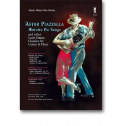 Piazzolla, Astor: Music minus one guitar : Histoire du tango and other Latin dance classics for flute and guitar