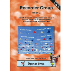 Recorder group vol.2 3 flexible 3-part arr. for a group of descant, treble and/or tenor recorders and piano ad lib