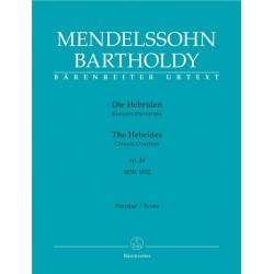 Mendelssohn-Bartholdy, Felix: Die Hebriden op.26 (Rom Fassungen) für Orchester Partitur