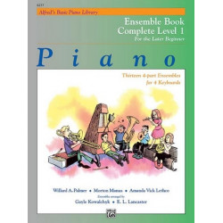 Palmer, Willard A.: Alfred's Basic Piano Library : Ensemble Book Complete Level 1, for 4 Keyboards Manus, Morton, Koautor