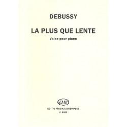 Debussy, Claude: La plus que lente : Valse pour piano Solymos, Peter, Ed