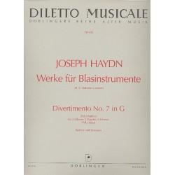 Haydn, Franz Joseph: DIVERTIMENTO PARTHIA G-DUR FUER ZWEI OBOEN, ZWEI FAGOTTE UND ZWEI HOERNER PARTITUR UND STIMMEN