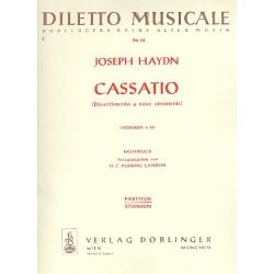 Haydn, Franz Joseph: Cassatio F-Dur Hob.II:20 : für 2 Oboen, 2 Hörner, 2 Violinen, 2 Violen und Baß, Partitur