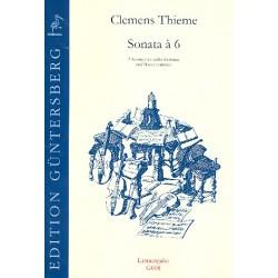 Thieme, Clemens: 2 Sonaten für 6 Gamben (SSAATB) und Bc : Partitur und Stimmen Sonata a 6