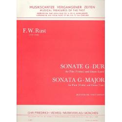 Rust, Friedrich Wilhelm: Sonate G-Dur für Flöte (Violine) und Gitarre (Laute) Spielpartitur