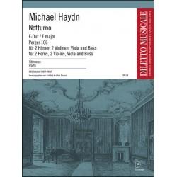 Notturno F-Dur Perger-Nr.106 : für 2 Hörner, 2 Violinen und Bass Stimmen