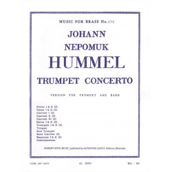 Hummel, Johann Nepomuk: Concerto e flat major for trumpet and band : score Music for brass no.370