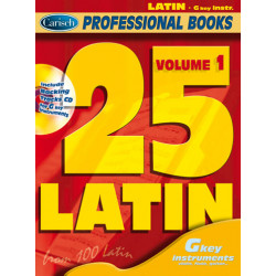 25 Latin vol.1 (+CD): for g key instruments (flute, violin, guitar) professional books series