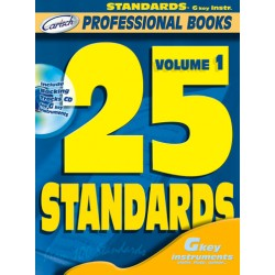 25 standards vol.1 (+CD): for g-key instruments in C (flute, violin, guitar) professional books series