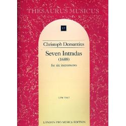 Demantius, Christoph: 7 Intradas (1608) : for 6 instruments, 6 scores