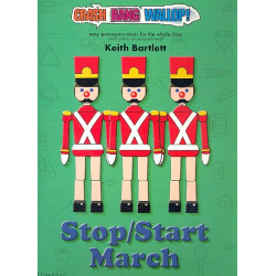 Bartlett, Keith: Stop/Start March (+CD) for percussion ensemble and piano score and parts