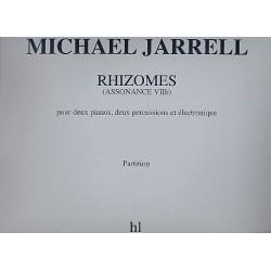 Jarrell, Michael: Rhizomes : Assonance 7b pour 2 pianos, 2 percussions et électroniques, partition