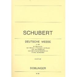 Schubert, Franz: Deutsche Messe : für Männerchor und Bläser Partitur (dt)