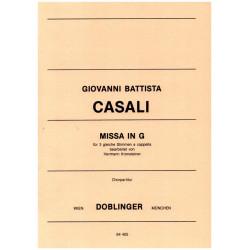 Casali, Giovanni Battista: Missa G-Dur : für 3 gleiche Stimmen a cappella Partitur