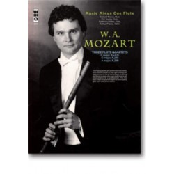Mozart, Wolfgang Amadeus: Music minus one flute : 3 flute quartets KV631, KV285, KV298, book+CD