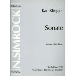 Klingler, Karl: Sonate : für Violoncello und Kavier