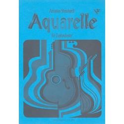 Streichardt, Antonius: Aquarelle : f├╝r Zupforchester Partitur
