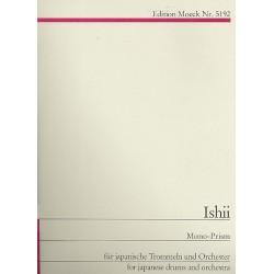 Ishii, Maki: Mono-Prism : f├╝r japanische Trommeln und Orchester Studienpartitur