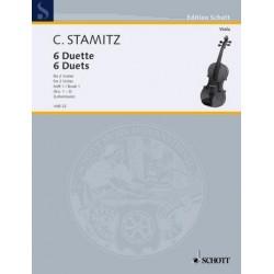 Stamitz, Karl: 6 Duette Band 1 (Nr.1-3) : für 2 Violen