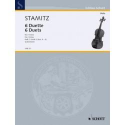 Stamitz, Karl: 6 Duette Band 2 (Nr.4-6) : für 2 Violen