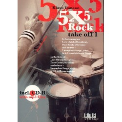 Usmann, Klaus: 5 X 5 rock take off 1 (+CD-Rom, MP3) 5 songs in 4-5 Tempi