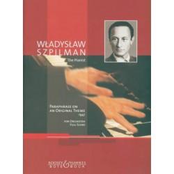 Szpilman, Wladyslaw: Paraphrase on an original theme for orchestra score