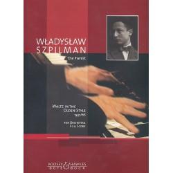 Szpilman, Wladyslaw: Waltz in the olden style for orchestra score