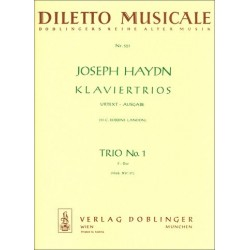 Haydn, Franz Joseph: Klaviertrio F-Dur Nr.1 Hob.XV:37 Stimmen