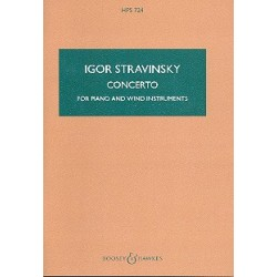 Strawinsky, Igor: Concerto : for piano and wind instruments, 1924, revised 1950 miniature score