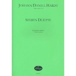 Hardt, Johann Daniel: 7 Duette : für Diskant, Bass und Viola da Gamba Partitur und Stimmen