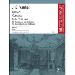 Vanhal, Johann Baptist (Krtitel): Konzert Es-Dur : für Kontrabaß und Orchester Partitur