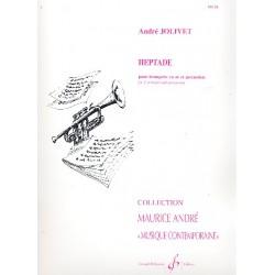 Jolivet, André: Heptade : pour trompette et percussion partition et parties