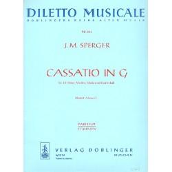 Sperger, Johann Matthias: Cassatio G-Dur für 2 Hörner, Violine, Viola und Kontrabass Partitur