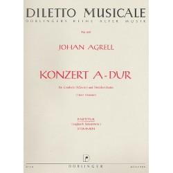 Agrell, Johann Joachim: konzert A-Dur : für Cembalo (Klavier) und Streichorchester Partitur ( Cembalo)