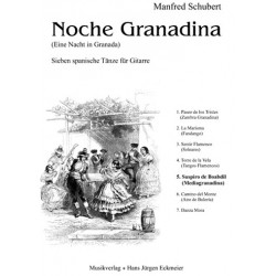 Schubert, Manfred: Suspiro de Boabdil (Mediagranadiana) : für Gitarre Nr.5 aus Noche Granadiana