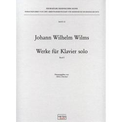 Wilms, Johann Wilhelm: Werke für Klavier solo Band 1 (+CD)