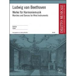 Beethoven, Ludwig van: Werke für Harmoniemusik für gemischtes Bläserensemble und Trommel Partitur