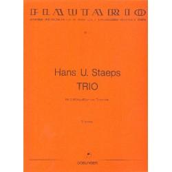 Staeps, Hans Ulrich: Trio für 3 Blockflöten (AAT) Partitur und Stimmen
