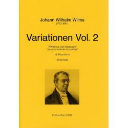Wilms, Johann Wilhelm: variationen band 2 : f├╝r klavier