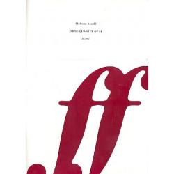 Arnold, Malcolm: Quartet op.61 for oboe, violin, viola and violoncello, score
