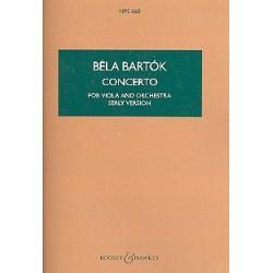Bartók, Béla: Konzert : für Viola und Orchester Studienpartitur
