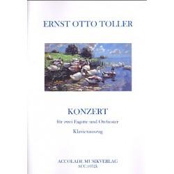 Toller, Ernst Otto: Konzert : f├╝r 2 Fagotte und Klavier