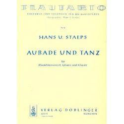 Staeps, Hans Ulrich: Aubade und Tanz : f├╝r 6 Blockfl├Âten, Gitarre und Klavier