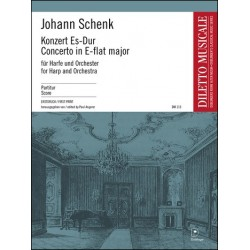 Schenk, Johann Baptist: Konzert Es-Dur : für Harfe und Orchester Partitur