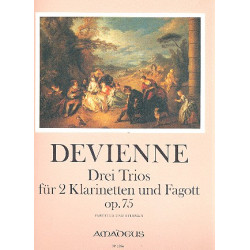 Devienne, Francois: 3 Trios op.75 : für 2 Klarinetten und Fagott Partitur und Stimmen Morgan, Yvonne, ed