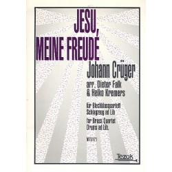 Crüger, Johann: Jesu meine Freude : für 2 Trompeten, 2 Posaunen, Schlagzeug ad lib Partitur und Stimmen