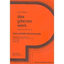 Instrumentale Kammermusik für Melodieinstrument und Gitarre Spielpartitur